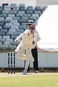 November 5th 2017, WACA Ground, Perth Australia; International cricket tour, Western Australia versus England, day 2; England player Mason Crane runs in to bowl
