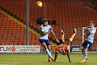 Blackpool's Joe Dodoo scores his sides first goal<br /> <br /> Photographer Rachel Holborn/CameraSport<br /> <br /> The EFL Checkatrade Trophy Group C - Blackpool v Accrington Stanley - Tuesday 13th November 2018 - Bloomfield Road - Blackpool<br />  <br /> World Copyright © 2018 CameraSport. All rights reserved. 43 Linden Ave. Countesthorpe. Leicester. England. LE8 5PG - Tel: +44 (0) 116 277 4147 - admin@camerasport.com - www.camerasport.com
