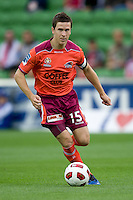 MELBOURNE, AUSTRALIA - NOVEMBER 14: Matt McKay of the Roar controls the ball during the round 14 A-League match between the Melbourne Heart and Brisbane Roar at AAMI Park on November 14, 2010 in Melbourne, Australia (Photo by Sydney Low / Asterisk Images)
