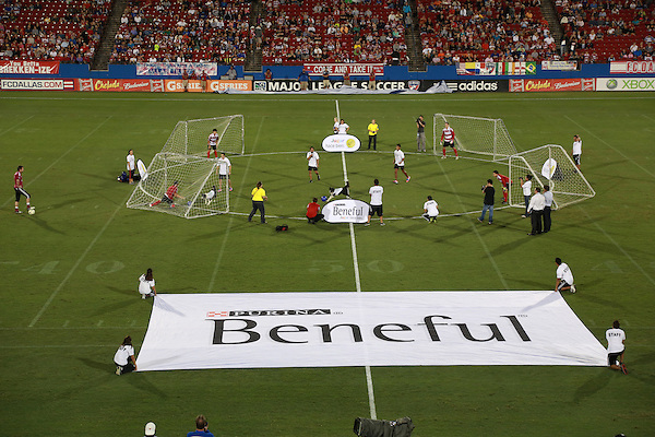FRISCO, TX - SEPTEMBER 15: Halftime activities by the  sponsor Beneful at halftime during the match between FC Dallas and the Vancouver FC  at FC Dallas Stadium on September 15, 2012 in Frisco, Texas. (Photo by Rick Yeatts)