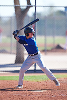 William Thompson (52), from Haiku, Hawaii, while playing for the Dodgers during the Under Armour Baseball Factory Recruiting Classic at Red Mountain Baseball Complex on December 29, 2017 in Mesa, Arizona. (Zachary Lucy/Four Seam Images)