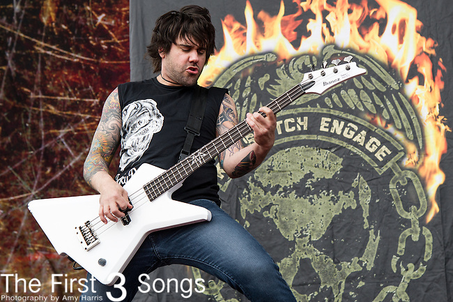 Mike D'Antonio of Killswitch Engage performs during the 2014 Rock On The Range festival at Columbus Crew Stadium in Columbus, Ohio.