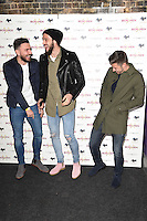 "Robert Snodgrass, Andy Carroll and Aaron Cresswell<br /> arrives for the ""Iron Men"" premiere at the Mile End Genesis cinema, London.<br /> <br /> <br /> ©Ash Knotek  D3236  02/03/2017"