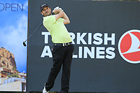 Thomas Aiken (RSA) tees off the 18th tee during Sunday's Final Round of the 2018 Turkish Airlines Open hosted by Regnum Carya Golf &amp; Spa Resort, Antalya, Turkey. 4th November 2018.<br /> Picture: Eoin Clarke | Golffile<br /> <br /> <br /> All photos usage must carry mandatory copyright credit (&copy; Golffile | Eoin Clarke)