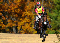 Park Trader, with rider Buck Davidson (USA), competes during the Cross Country test during the Fair Hill International at Fair Hill Natural Resources Area in Fair Hill, Maryland on October 20, 2012.