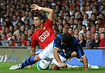 Manchester United's Cristiano Ronaldo is tackled by Inter Milan's Dejan Stankovic. Pic SPORTIMAGE/Dave Thompson..Pre-Season Friendly..Manchester United v Internazionale..1st August, 2007..--------------------..Sportimage +44 7980659747..admin@sportimage.co.uk..http://www.sportimage.co.uk/