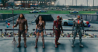 Justice League (2017) <br /> JASON MOMOA, GAL GADOT, EZRA MILLER, RAY FISHER<br /> *Filmstill - Editorial Use Only*<br /> CAP/FB<br /> Image supplied by Capital Pictures