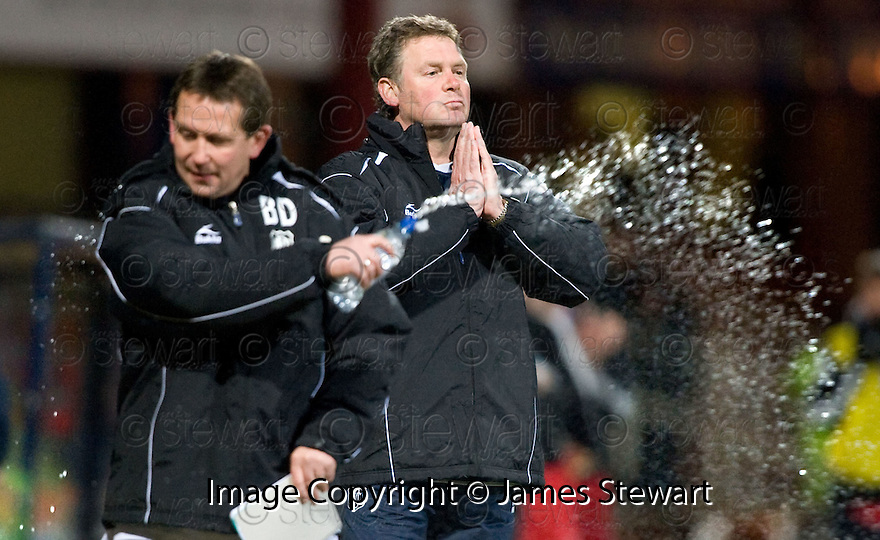 23/03/2010 Copyright  Pic : James Stewart.sct_jspa17_gordon_chisholm  .::  DUNDEE MANAGER GORDON CHISHOLM AND ASSISTANT BILLY DODDS  ::  .James Stewart Photography 19 Carronlea Drive, Falkirk. FK2 8DN      Vat Reg No. 607 6932 25.Telephone      : +44 (0)1324 570291 .Mobile              : +44 (0)7721 416997.E-mail  :  jim@jspa.co.uk.If you require further information then contact Jim Stewart on any of the numbers above.........