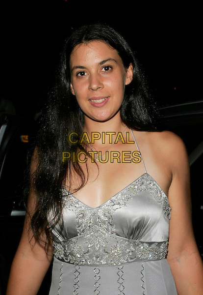 MARION BARTOLI.At the Wimbledon Champions Dinner, The Savoy Hotel, .London, England, July 8th 2007..tennis half length grey silver beaded dress.CAP/AH.©Adam Houghton/Capital Pictures.