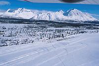 Aerial View Puntilla Lake Rainy Pass Ckt 2000 Iditarod AK