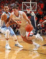 Virginia guard Joe Harris (12) during an NCAA basketball game Monday Jan. 20, 2014 in Charlottesville, VA. Virginia defeated North Carolina 76-61.