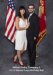 Joe Romo son and date at the Military Police Company A 241 Marine Corps Birthday Ball, Saturday Nov. 19, 2016  in Lexington, Ky. Photo by Mark Mahan