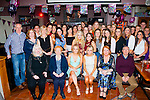 Twice the fun<br /> -----------------<br /> Twin sisters,Karhy&amp;Megan Hartnett,Castleisland (seated centre) had a smashing time celebrating their 21st birthdays last Saturday night in O'Riada's bar,Ballymac along with many friends and family.