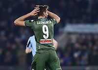 11th January 2020; Stadio Olympico, Rome, Italy; Serie A Football, Lazio versus Napoli; Fernando Llorente  of Napoli rues missing a goal scoring opportunity - Editorial Use