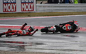 10th September 2017, Misano World Circuit, Misano Adriatico, San Marino; San Marino MotoGP, Sunday Race Day; Jorge Lorenzo (Ducati) overcooks the corner and slides off his bike during the race