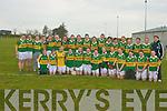 The Kerry ladies under fourteen football team who defeated Clare in in St. Senan's Listowel on Saturday