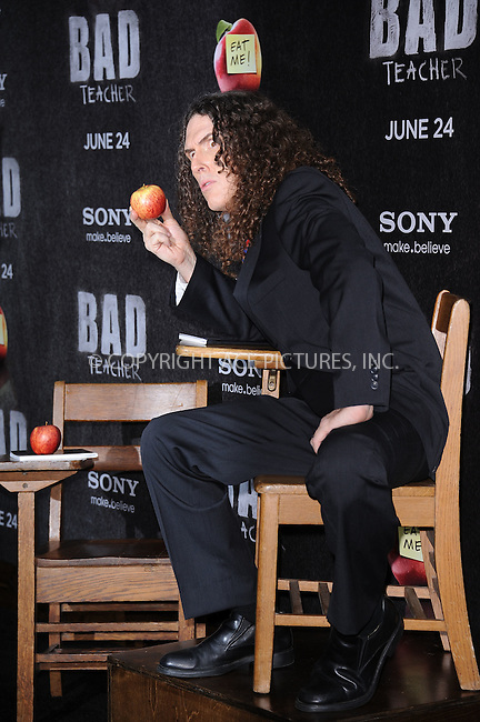 "WWW.ACEPIXS.COM . . . . . .June 20, 2011...New York City...""Weird Al"" Yankovic attends the premiere of 'Bad Teacher' at the Ziegfeld Theatre on June 20, 2011 in New York City.....Please byline: KRISTIN CALLAHAN - ACEPIXS.COM.. . . . . . ..Ace Pictures, Inc: ..tel: (212) 243 8787 or (646) 769 0430..e-mail: info@acepixs.com..web: http://www.acepixs.com ."