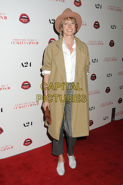 """Jesse Kamm.""""A Glimpse Inside The Mind of Charles Swan III"""" Los Angeles Premiere held at ArcLight Cinemas, Hollywood, California, USA..February 4th, 2013.full length coat grey gray trousers white shirt brown hat beige .CAP/ADM/BP.©Byron Purvis/AdMedia/Capital Pictures."""
