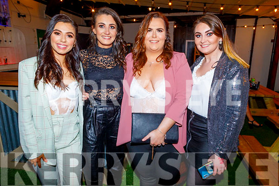 Saoirse Hogan, Grace Stack, Clare O'Shea and Michelle Daly attending the 'Paris is Burning' Drag Show in Benners Hotel on Saturday.
