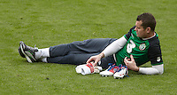 POLAND - Gdynia - 07 JUNE 2012 - Republic of Ireland Training Session at Gdynia. Shay Given lying on the pitch.