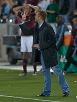 Real Salt Lake head coach Jason Kreis. Real Salt Lake earned a tied versus the Colorado Rapids securing a place in the postseason. Dick's Sporting Goods Park, Denver, Colorado, October, 25, 2008. Photo by Trent Davol/isiphotos.com