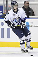 QMJHL (LHJMQ) hockey profile photo on Rimouski Oceanic Alexis Loiseau October 6, 2012 at the Colisee Pepsi in Quebec city.