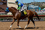DEL MAR, CA  AUGUST 17: #6 Mr Vargas, ridden by Joseph Talamo, returns to the connections after winning the Green Flash Handicap (Grade lll) on August 17, 2019 at Del Mar Thoroughbred Club in Del Mar, CA. (Photo by Casey Phillips/Eclipse Sportswire/CSM)