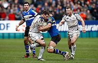 Photo: Richard Lane/Richard Lane Photography. Bath Rugby v Leinster. Heineken Cup. 11/12/2011. Leinster's Fergus McFadden attacks.