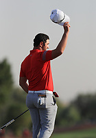 Jon Rahm (ESP) wins the DP World Tour Championship 2017, at Jumeirah Golf Estates, Dubai, United Arab Emirates. 19/11/2017<br /> Picture: Golffile | Thos Caffrey<br /> <br /> <br /> All photo usage must carry mandatory copyright credit     (© Golffile | Thos Caffrey)