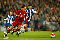 Virgil van Dijk of Liverpool and Soares of FC Porto in action during the UEFA Champions League Quarter Final first leg match between Liverpool and Porto at Anfield on April 9th 2019 in Liverpool, England. (Photo by Daniel Chesterton/phcimages.com)<br /> Foto PHC/Insidefoto <br /> ITALY ONLY