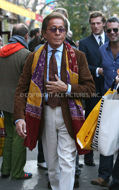 WWW.ACEPIXS.COM . . . . .  ....November 9 2009, New York City....Designer Valentino out in Manhattan on November 9 2009 in New York City....Please byline: NANCY RIVERA- ACE PICTURES.... *** ***..Ace Pictures, Inc:  ..tel: (212) 243 8787 or (646) 769 0430..e-mail: info@acepixs.com..web: http://www.acepixs.com