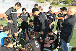 Palos Verdes, CA 02/03/12 - Peninsula team  in action during the Peninsula vs Palos Verdes boys varsity soccer game.
