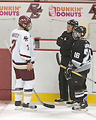 Peter Harrold, John Gravallese, Tony Zancanaro  The Boston College Eagles defeated the Providence College Friars 3-2 in regulation on October 29, 2005 at Kelley Rink in Conte Forum in Chestnut Hill, MA.  It was BC's first Hockey East win of the season and Providence's first HE loss.