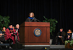 Senator Catherine Cortez Masto speaks during the University of Nevada, Reno morning Winter Commencement Ceremony at Lawlor Events Center in Reno, Saturday, Dec. 9, 2017.