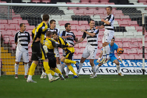 06.11.2010 FA Cup 1st Round Darlington v Bristol Rovers. Bristol Rovers Will Hoskins scoring.