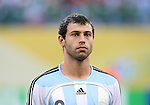 24 June 2006: Javier Mascherano (ARG). Argentina (1st place in Group C) defeated Mexico (2nd place in Group D) 2-1 after extra time at the Zentralstadion in Leipzig, Germany in match 50, a Round of 16 game, in the 2006 FIFA World Cup.