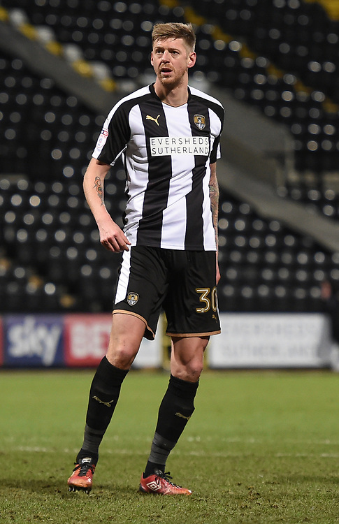Notts County's Jonathan Stead reacts after scoring from the penalty spot to make it 1-1<br /> <br /> Photographer Jon Hobley/CameraSport<br /> <br /> The EFL Sky Bet League Two - Notts County v Crawley Town - Tuesday 23rd January 2018 - Meadow Lane - Nottingham<br /> <br /> World Copyright &copy; 2018 CameraSport. All rights reserved. 43 Linden Ave. Countesthorpe. Leicester. England. LE8 5PG - Tel: +44 (0) 116 277 4147 - admin@camerasport.com - www.camerasport.com