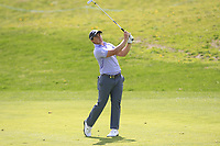 Paul Dunne (IRL) on the 11th fairway during Round 3 of the Open de Espana 2018 at Centro Nacional de Golf on Saturday 14th April 2018.<br /> Picture:  Thos Caffrey / www.golffile.ie<br /> <br /> All photo usage must carry mandatory copyright credit (&copy; Golffile | Thos Caffrey)