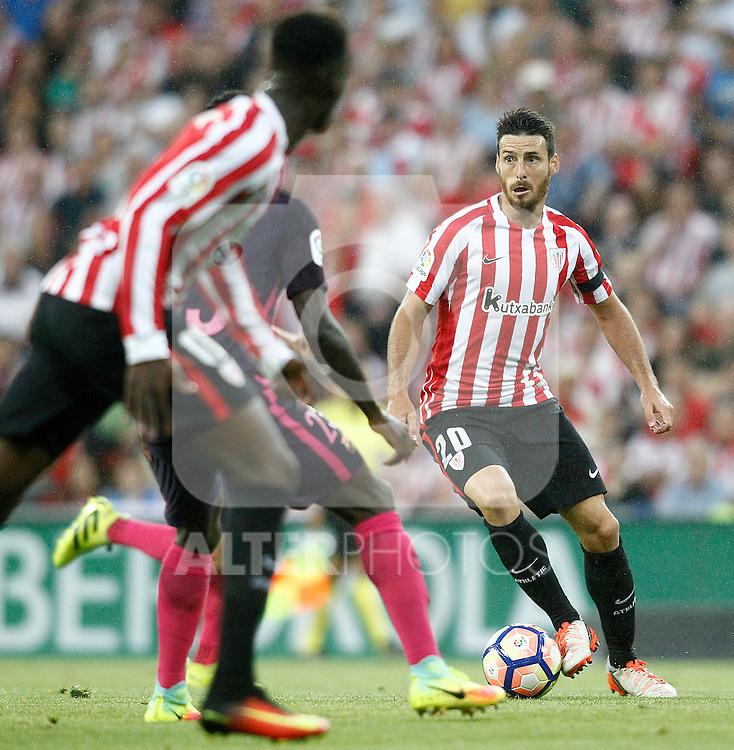 Athletic de Bilbao's Aritz Aduriz during La Liga match. August 28,2016. (ALTERPHOTOS/Acero)