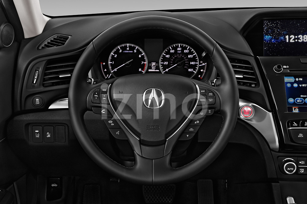 Car pictures of steering wheel view of a 2019 Acura ILX Premium 4 Door Sedan