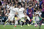 Real Madrid CF's Karim Benzema, Gareth Bale  and FC Barcelona's Leo Messi during La Liga match. March 02,2019. (ALTERPHOTOS/Alconada)