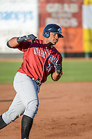 Alexis Rivera (26) of the Idaho Falls Chukars rounds the bases after hitting a home run against the Ogden Raptors in Pioneer League action at Lindquist Field on June 23, 2015 in Ogden, Utah. Idaho Falls beat the Raptors 9-6. (Stephen Smith/Four Seam Images)