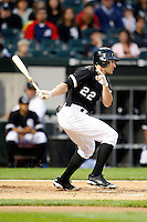 August 7, 2009:  Center Fielder Scott Podsednik (22) of the Chicago White Sox at bat during a game vs. the Cleveland Indians at U.S. Cellular Field in Chicago, IL.  The Indians defeated the White Sox 6-2.  Photo By Mike Janes/Four Seam Images
