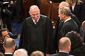 United States Supreme Court Associate Justice Anthony Kennedy arrives to listen  to U.S. President Donald J. Trump address a joint session of Congress on Capitol Hill in Washington, DC, February 28, 2017. <br /> Credit: Chris Kleponis / CNP