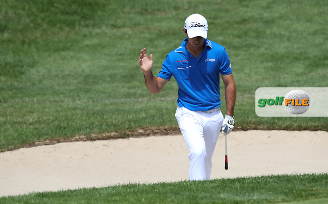 Gary Stal (FRA) out of the bunker on the 3rd during Round Three of the 2015 Alstom Open de France, played at Le Golf National, Saint-Quentin-En-Yvelines, Paris, France. /04/07/2015/. Picture: Golffile | David Lloyd<br /> <br /> All photos usage must carry mandatory copyright credit (&copy; Golffile | David Lloyd)