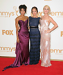 Annie Ilonzeh,Minka Kelly and Rachael Taylor at The 63rd Anual Primetime Emmy Awards held at Nokia Theatre L.A. Live in Los Angeles, California on September  18,2011                                                                   Copyright 2011Debbie VanStory / iPhotoLive.com