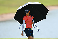 SINGAPORE - MARCH 02: Azahara Munoz of Spain on the 5th green during the third round of the HSBC Women's World Championship 2019 at Sentosa Golf Club - Tanjong Course, Singapore on March 02, 2019.<br /> .<br /> .<br /> .<br /> (Photo by: Naratip Golf Srisupab/SEALs Sports Images)<br /> .<br /> Any image use must include a mandatory credit line adjacent to the content which should read: Naratip Golf Srisupab/SEALs Sports Images