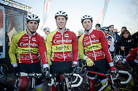 3 brothers starting in the same race: Diether, Laurens &amp; Hendrik Sweeck (BEL/Corendon-Kwadro)<br /> <br /> CX Leuven Soudal Classic 2015