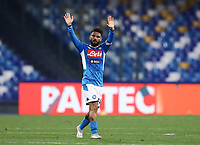 14th January 2020; Stadio San Paolo, Naples, Campania, Italy; Coppa Italia Football, Napoli versus Perugia; Lorenzo Insigne of Napoli salutes the fans after scoring from the penaly spot for 1-0 in the 26th minute - Editorial Use