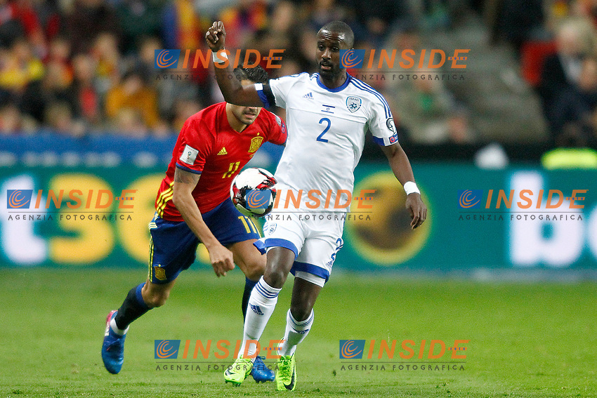 Spain's Vitolo (l) and Israel's Eli Dasa during FIFA World Cup 2018 Qualifying Round match. <br /> Gijon 24-03-2017 Stadio El Molinon <br /> Qualificazioni Mondiali <br /> Spagna - Israele <br /> Foto Acero/Alterphotos/Insidefoto <br /> ITALY ONLY